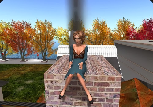 Sitting on chimney